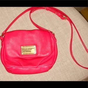 Marc by Marc Jacobs Magenta leather crossbody bag
